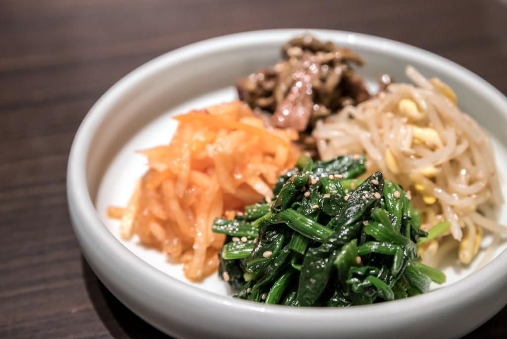 Korean preserved various vegetable for yakiniku meal