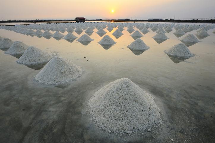 Salt heap
